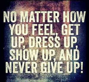 never give up ever picture quote