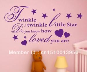 TWINKLE-TWINKLE-LITTLE-STAR-Quote-Nursery-Room-Rhyme-Wall-Art-Sticker ...