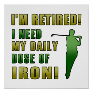 Funny Golfing Retirement Posters