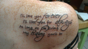 My new tattoo, for my sweet baby boys