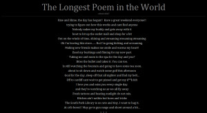 Longest Poem in the World