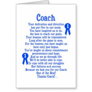 Coach Thank You Card