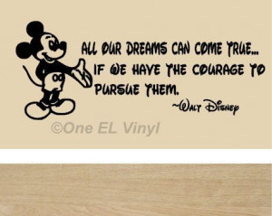 Walt Disney Mickey Mouse Vinyl Wall Quote -