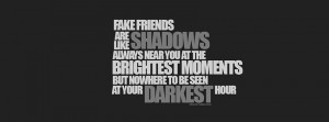 Facebook Fake Friends Quotes