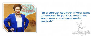 Miriam Defensor Santiago Stupid is Forever quote on politics: In a ...