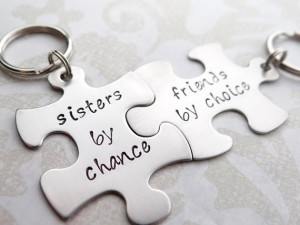 Sisters By Chance, Friends By Choice Matching Keychains. Handstamped ...