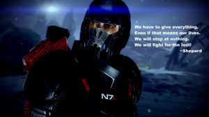 Shepard visiting the crash site of the Normandy in Mass Effect 2 ...