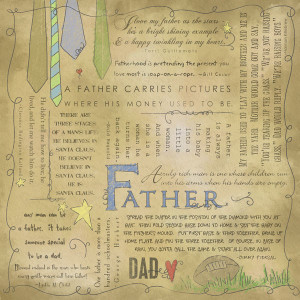 ... Customs - Religious Collection - 12 x 12 Paper - Quotes - Father
