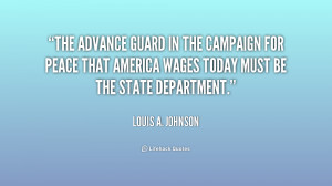 The advance guard in the campaign for peace that America wages today ...