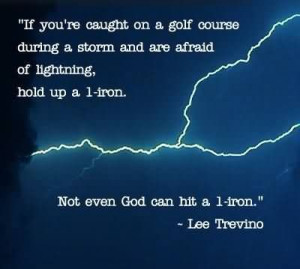 If You're Caught On A Golf Course During A Storm And Are Afraid Of ...
