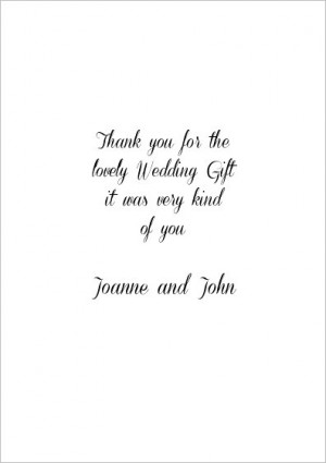 Thank You For Wedding Gift Quotes : Thank You Card Quotes For Wedding Gifts ~ Wedding Gift Thank You Cards