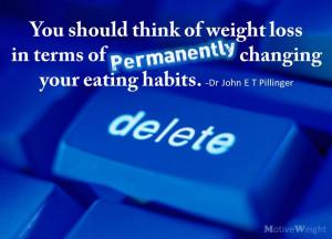 Permanently Change Your Eating Habits