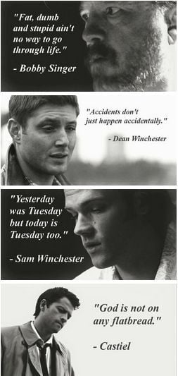 Inspirational quotes - #supernatural #dean winchester #bobby singer # ...