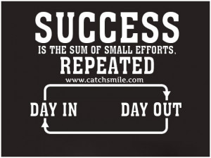 ... Is The Sum of Small Efforts – Repeated – Day In – Day Out