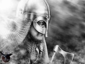 Viking warrior Ricardo Andres Perez by thecasperart