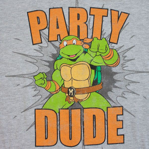 TEENAGE MUTANT NINJA TURTLES Party Dude T-Shirt Grey for only $ 29.40 ...