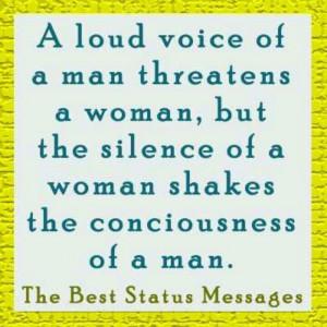 loud voice...