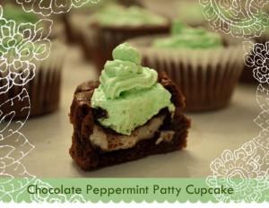Chocolate York Peppermint Patty Cupcake Recipe #cupcake #recipes