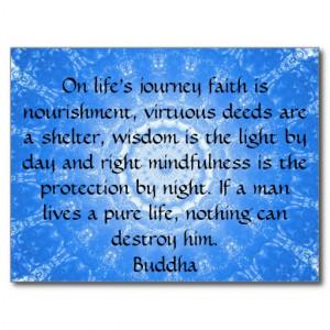 Buddha inspirational QUOTE life's journey faith Postcard