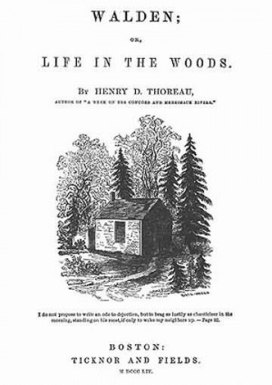 Title page to Walden, or Life in the Woods (Sophia's drawing).