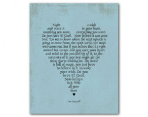 ... Art - One Tree Hill - Inspirational quote Graduation Gift - Room Decor