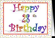 28th Birthday Cards
