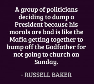 ... Godfather for not going to church on Sunday. #quotes #baker #politics