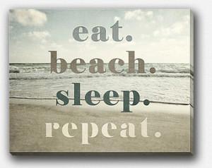 Decor Canvas Wrap, Beach Gallery Wrap Canvas, Beach Quote, Beach Wall ...