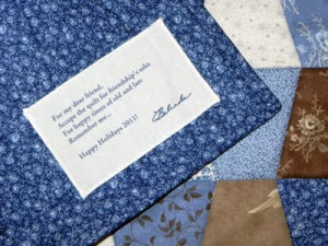 Quotes for Quilt Labels http://blueribbondesigns.blogspot.com/2011_12 ...