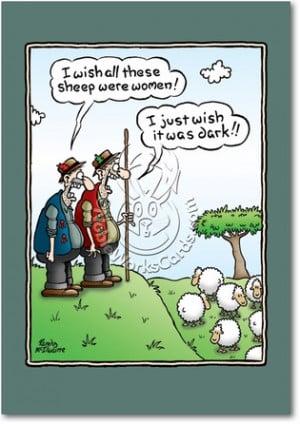 Wish Sheep Were Women Naughty Humorous Birthday Paper Card Nobleworks