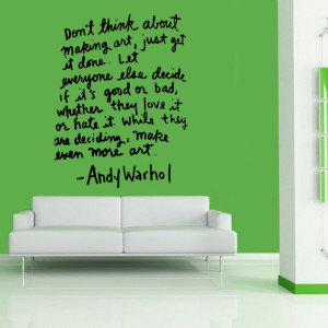 Andy Warhol Quote Wall Art Vinyl Sticker WA400 by atLoudDesigns, $38 ...