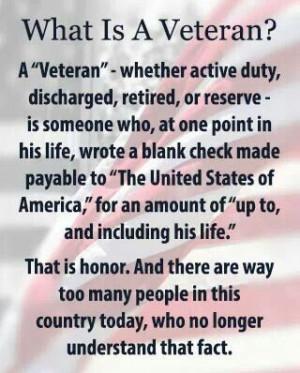 Definition of A Veteran...