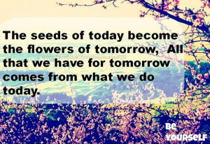 Flowers quote via www.Facebook.com/BeYourself09
