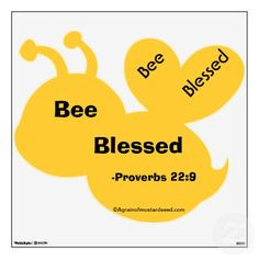 Bee Blessed Agrainofmustardseed.com Bumble Bee Wall Decor