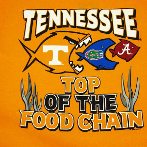Tennessee Volunteers Food Chain T-Shirt