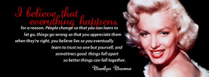Back > Quotes For > Marilyn Monroe Quotes Facebook Covers