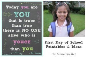 The First Day of School Resources & Printables