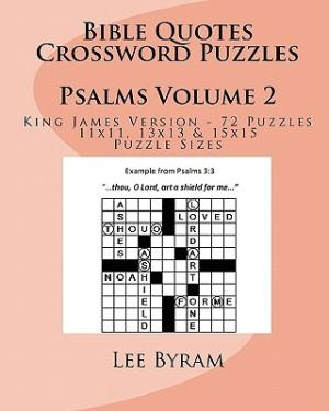 Bible Quotes Crossword Puzzles: Psalms by Byram, Lee [Paperback]