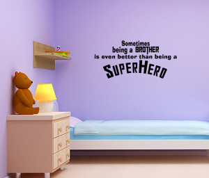 Superhero-Brother-Vinyl-Wall-Quote-Decal-Kids-Room-Decor-Superhero ...
