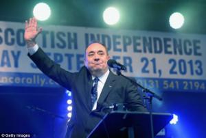 Campaign: Arch Tory Eurosceptic John Redwood said Alex Salmond's ...