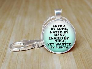 Funny Rhyme Quote Glass Keychain Gift Gossip Hater Joke Keychain ...