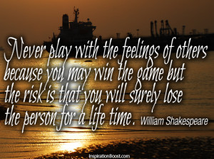 Best Shakespeare quote on feelings
