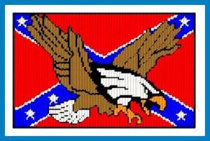 Eagle Rebel Flag Image