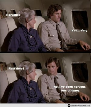 The actual sequence on the plane is full of quotable moments and here ...