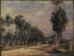 Image Pierre Auguste Renoir Renoir Road near Louveciennes 1895