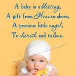 BABY IS A BLESSING Nursery Wall Decal