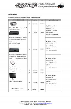 cctv installation company profile pdf