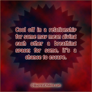 Cool off in a relationship for some may mean giving each other a ...