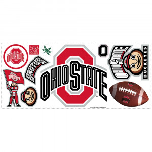 Ohio State University Giant Wall Stickers with Hooks