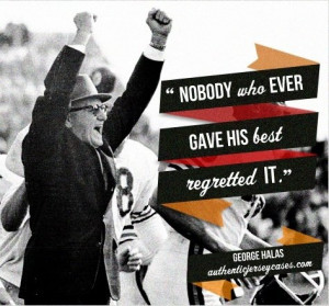 George Halas quote for personalized gifts